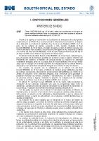 Orden sobre las condiciones en las que se puede realizar actividad física no profesional al aire libre durante la situación de crisis sanitaria ocasionada por el COVID-19