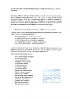 ACTA Nº 1 DE LA JUNTA ELECTORAL FEDERATIVA DE LA FEDERACION DE CASTILLA Y LEON DE NATACION