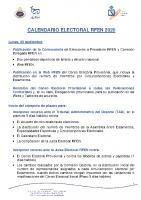 RFEN Calendario electoral RFEN