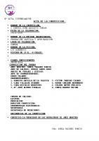 Resultados I Control RFEN Zamora