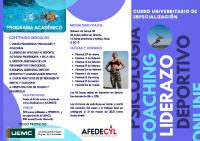 Tríptico Curso Psicología, Coaching, Liderazgo AFEDECYL