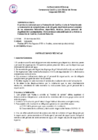 INSTRUCCIONES TÉCNICAS-Master Verano
